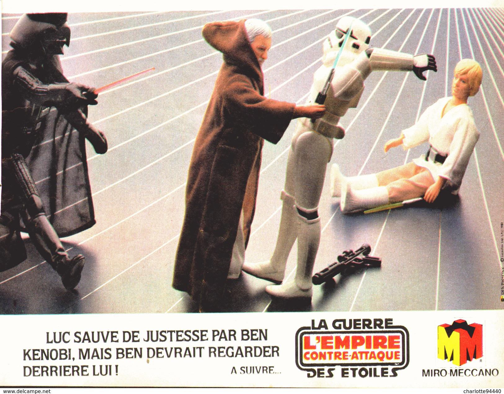 """PUB FIGURINES  """" LA GUERRE DES ETOILES """" """" L'EMPIRE CONTRE-ATTAQUE """" 1982 (8) - First Release (1977-1985)"""