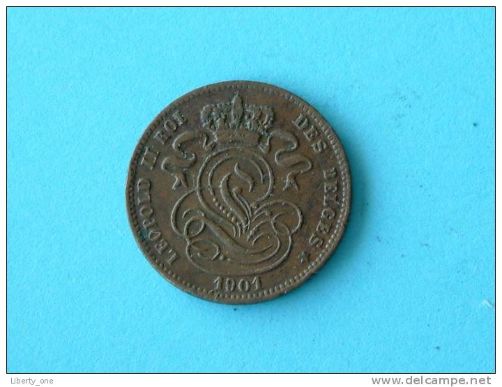 1901 FR / 1 Cent - Morin 230 ( For Grade, Please See Photo ) !! - 1865-1909: Leopold II