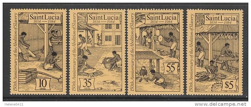 SERIE NEUVE DE SAINTE-LUCIE - 150EME ANNIVERSAIRE DE L´ABOLITION DE L´ESCLAVAGE N° Y&T 680 A 683 - Non Classés