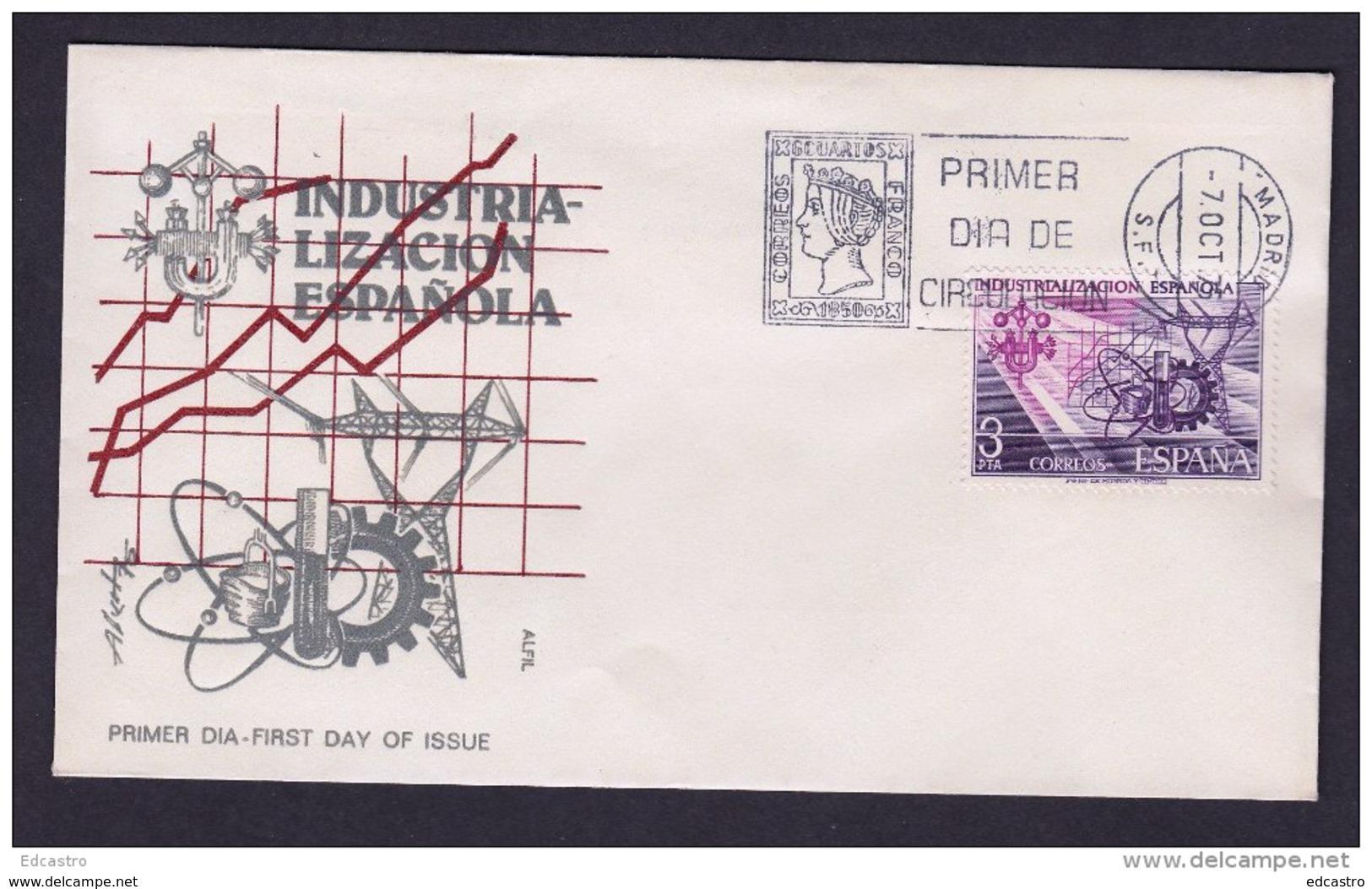 SPAIN ESPAGNE 1975 FDC SPANISH INDUSTRIALIZATION - Fábricas Y Industrias