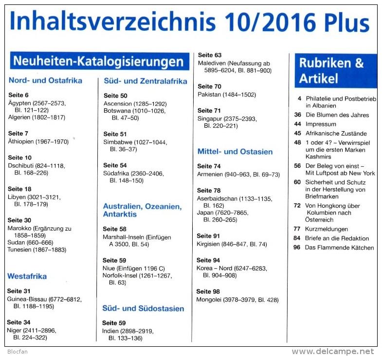 MICHEL Briefmarken Rundschau 10/2016-plus Neu 6€ New Stamps Of World Catalogue/magacin Of Germany ISBN 978-3-95402-600-5 - Material Und Zubehör