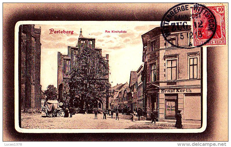 PERLEBERG / AM KIRCHPLATZ / CIRC 1913 / RARE / TRES BELLE  OBLITERATION - Perleberg