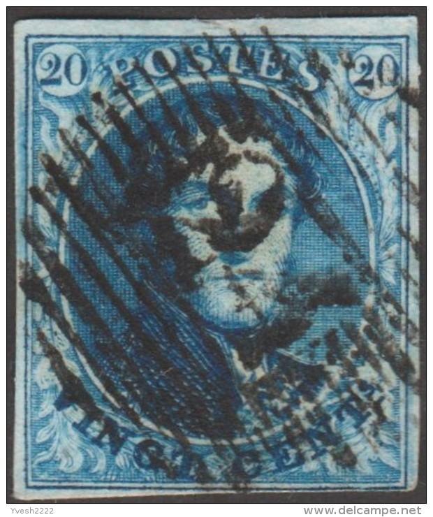 Belgique 1851 COB 7A. Oblitération P 24. Bruxelles - 1851-1857 Medallions (6/8)