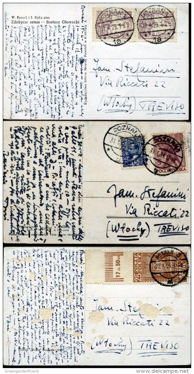 14361 Poland, 3 Circuled Cards 1929,1931,  As Scan - 1919-1939 Republic