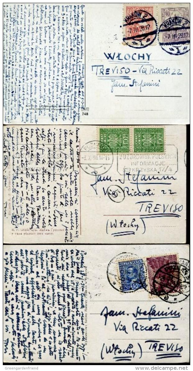 14365 Poland, 3 Circuled Cards 1929,1931,1930  As Scan - 1919-1939 Republic