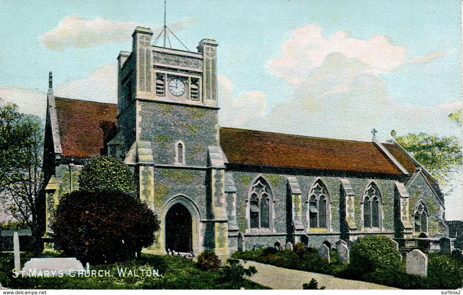 SUFFOLK - WALTON - ST MARY'S CHURCH  Suf327 - England