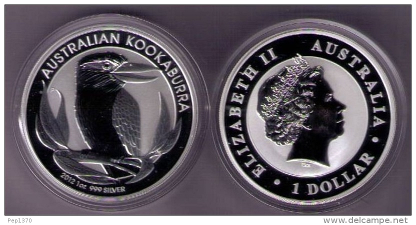 AUSTRALIA 2012 - 1 ONZA DE PLATA PURA - 1 SILVER DOLLAR - KOOKABURRA - Australia
