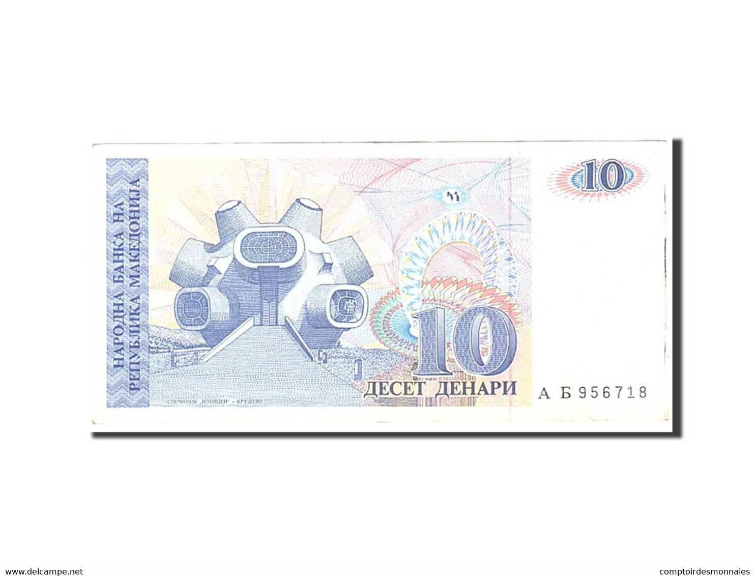 Macédoine, 10 Denari, 1993, Undated, KM:9a, TTB - Macédoine