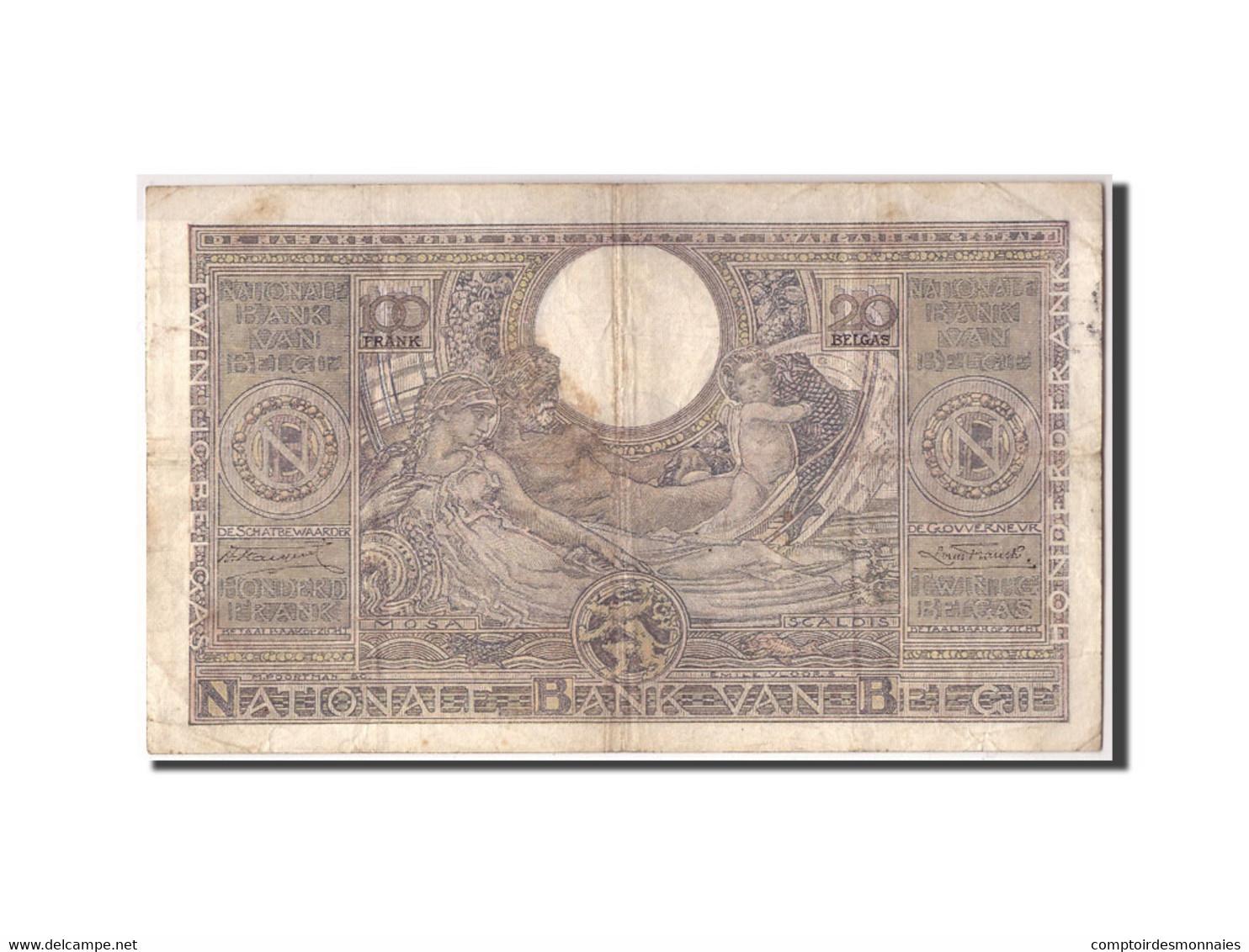 Belgique, 100 Francs-20 Belgas, 1935, KM:107, 1935-09-24, TB - [ 2] 1831-... : Regno Del Belgio