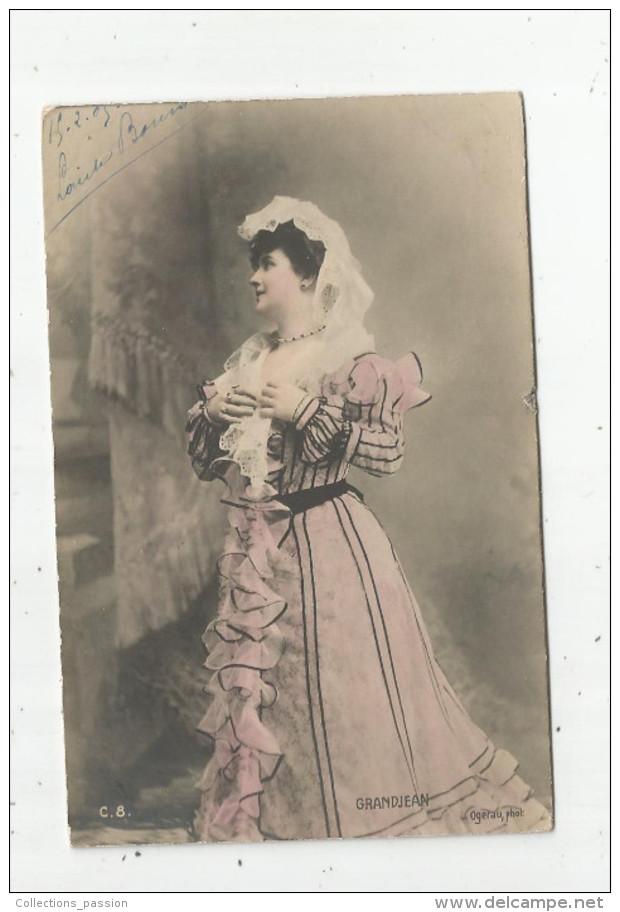 Cp , Spectacle , Artiste , Voyagée 1905 , GRANDJEAN - Artistes