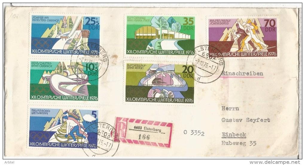ALEMANIA DDR ELSTERBERG CC CERTIFICADA JUEGOS OLIMPICOS DE INVIERNO 1976 SKI PATINAJE - Winter 1976: Innsbruck