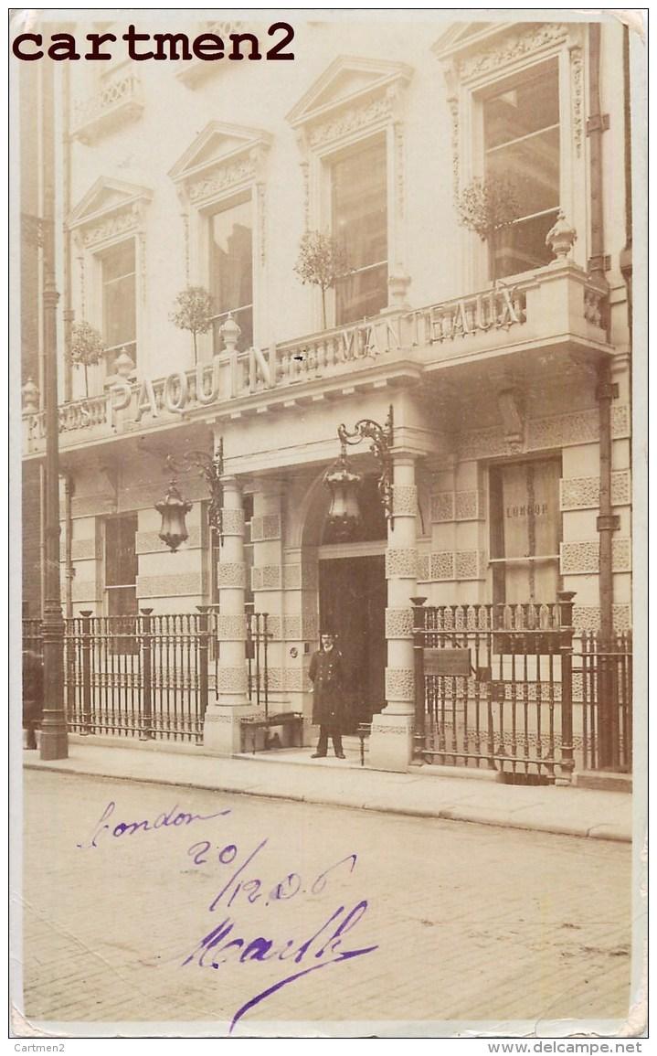 CARTE PHOTO : LONDON PAQUIN MANTEAUX SHOP LONDRES ENGLAND DEVANTURE COMMERCE - London