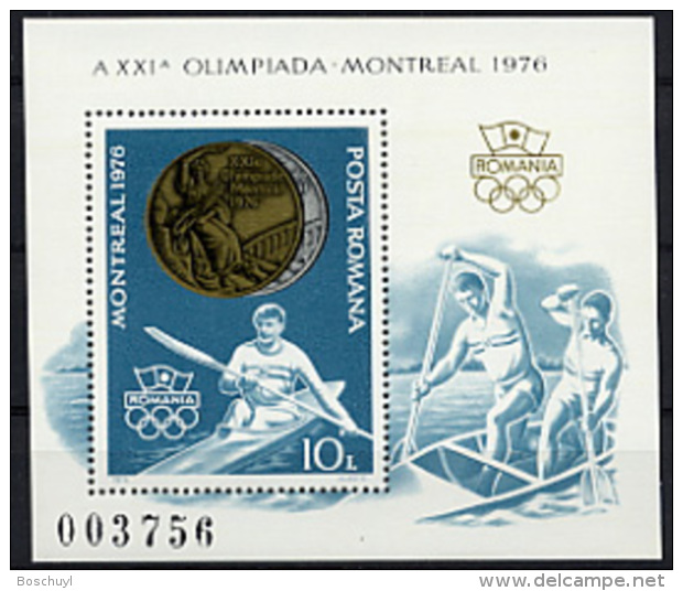 Romania, 1976, Olympic Summer Games Montreal, Gold Medal Winners, Canoeing, Kayaking, MNH, Michel Block 137 - Non Classés