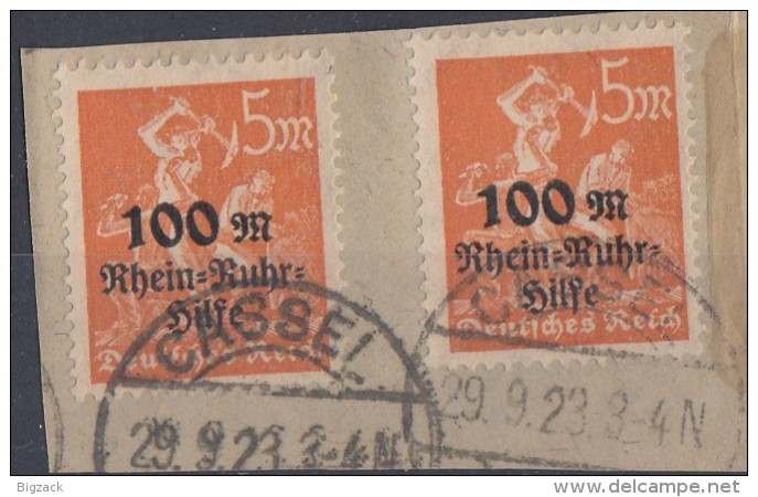 DR Briefstück Minr.2x 258 Cassel 29.9.23 - Gebraucht