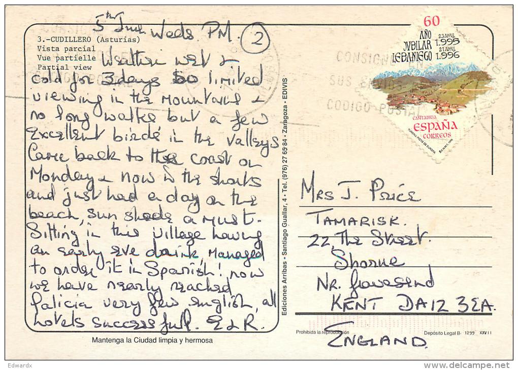 Cudillero, Spain Postcard Posted 1996 Stamp - Asturias (Oviedo)