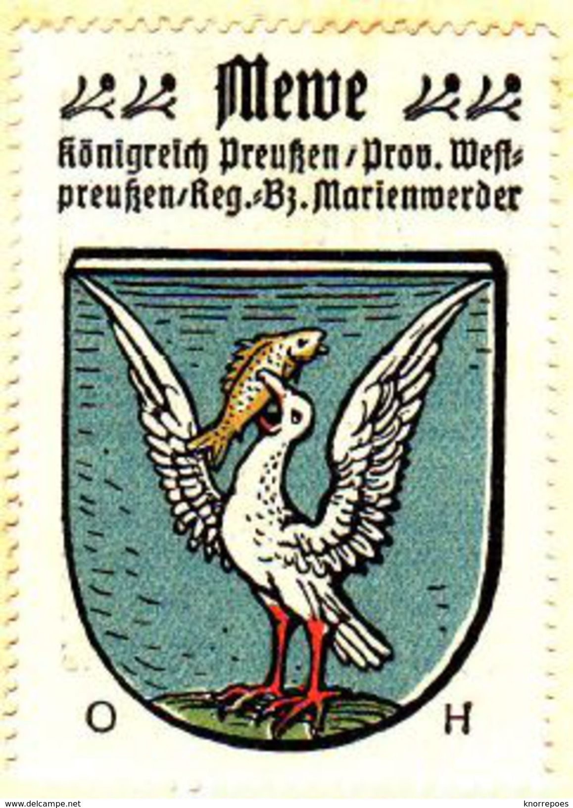 Werbemarke (Reklamemarke, Siegelmarke) Kaffee Hag : Wappen Von Mewe In Westpreussen - Tea & Coffee Manufacturers