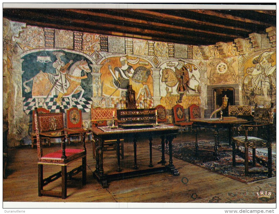 15 - Château D´ ANJONY - Salle Des Preux - Fresques XVIè S. - France