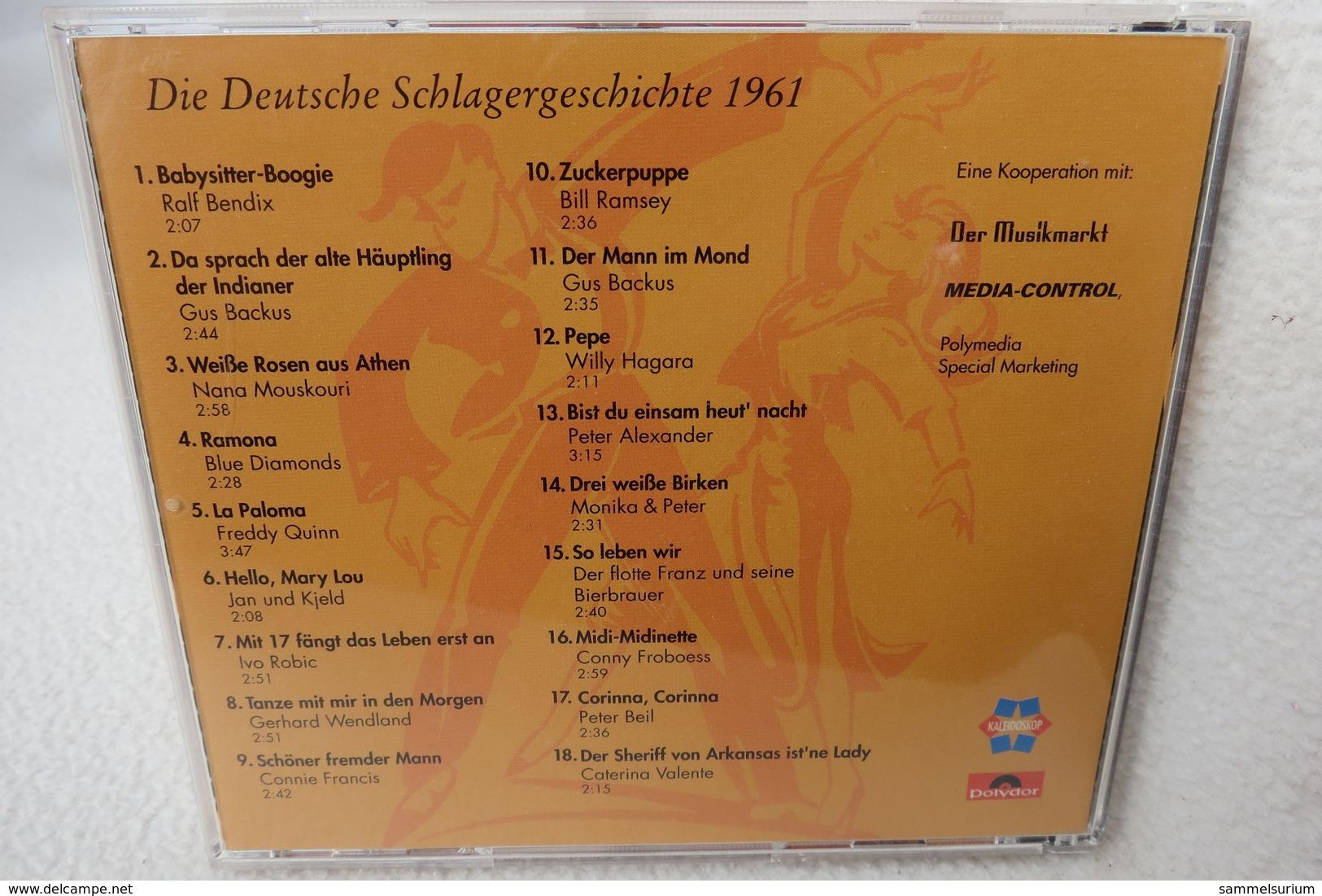 """CD """"Die Deutsche Schlagergeschichte 1961"""" Authentische Tondokumentation Erfolgreicher Dtsch. Titel Im Original 1959-1989 - Musik & Instrumente"""