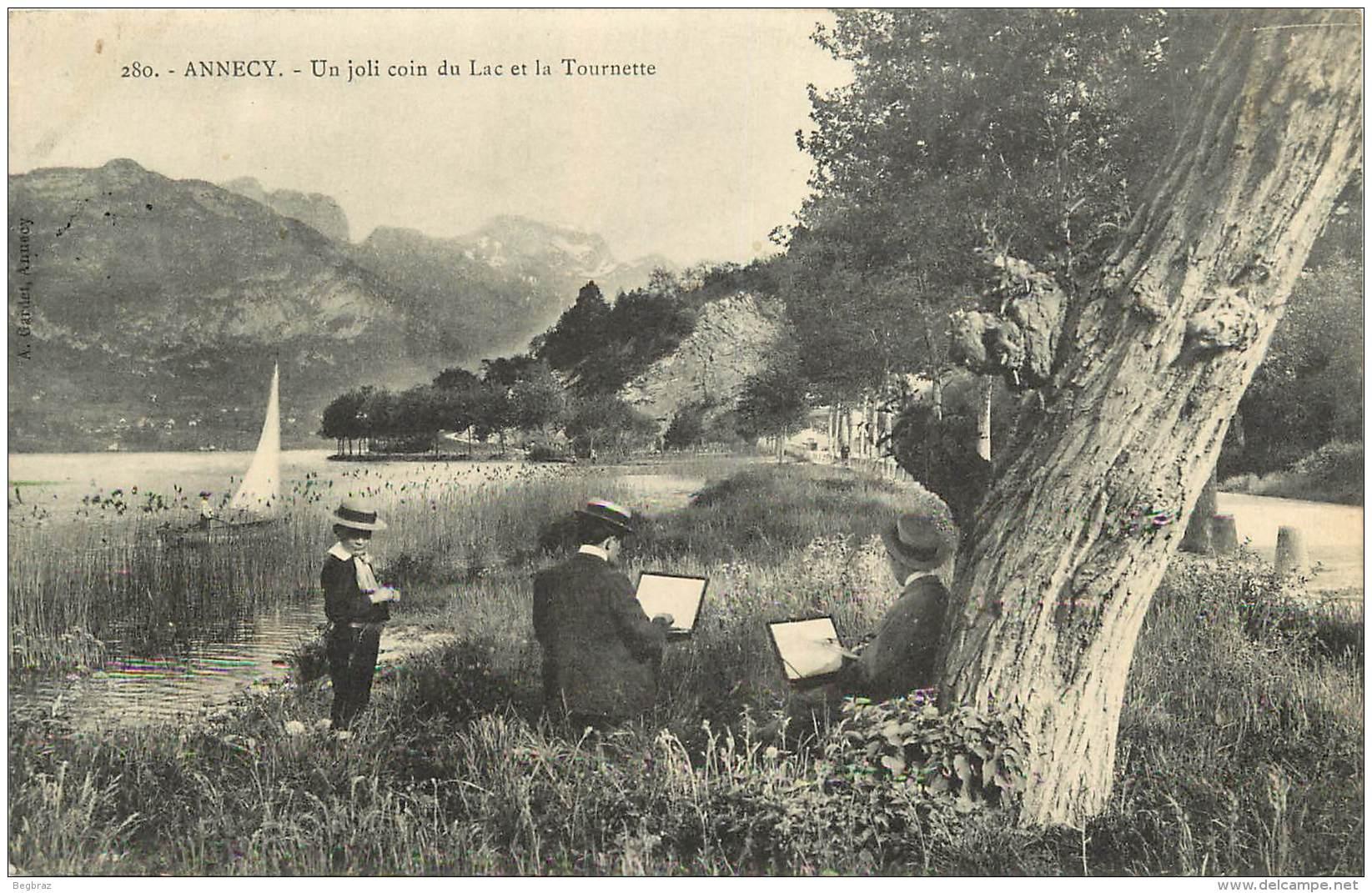 ANNECY       COIN DU LAC DE LA TOURNETTE    PEINTRE - Annecy