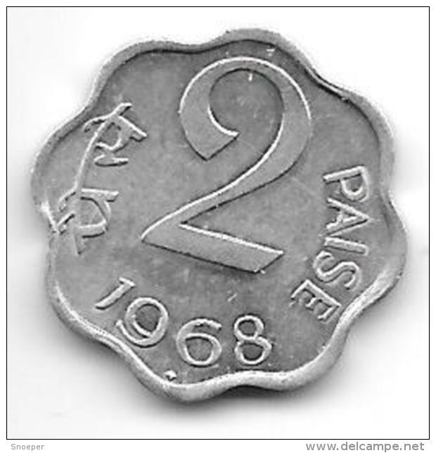 *india 2 Paisa 1968 B  Km 13.5  Xf+ - Inde