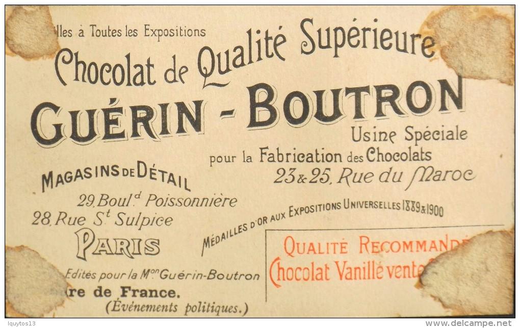 CHOCOLAT GUERIN-BOUTRON - Belle Chromo. - N° 74 - Présidence Carnot - L'Escadre Française à Cronstadt - BE - Guérin-Boutron