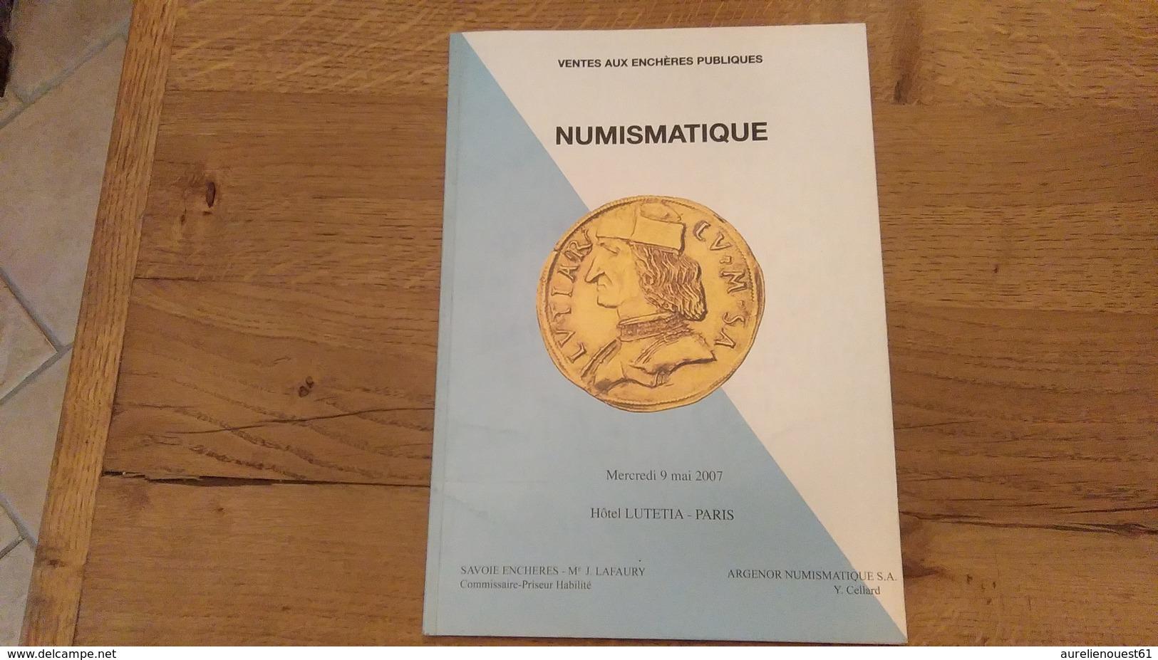 60: Numismatique Ventes Aux Encheres Publiques 9 Mai 2007 Hotel Lutetia Paris - Français