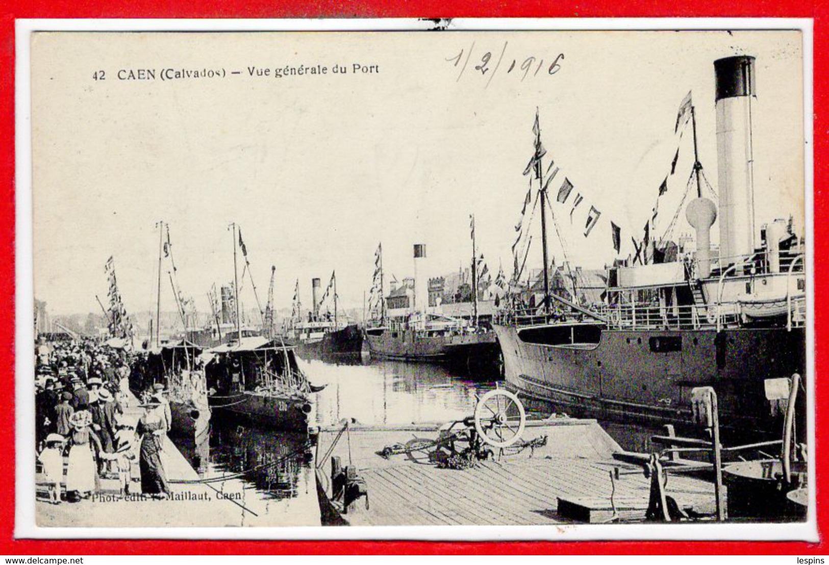 14 - CAEN --  Vue Générale Du Port - Caen