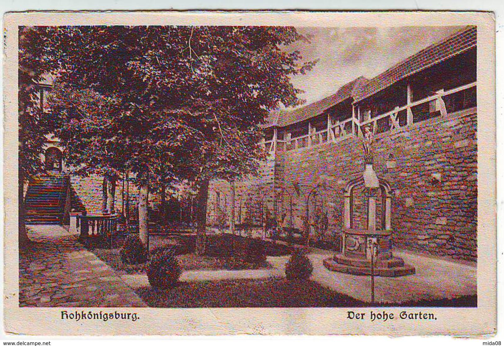 HOHKÖNIGSBURG . DER HOHE GARTEN . BURGBEFUCH 14 JUL. 1913 - France