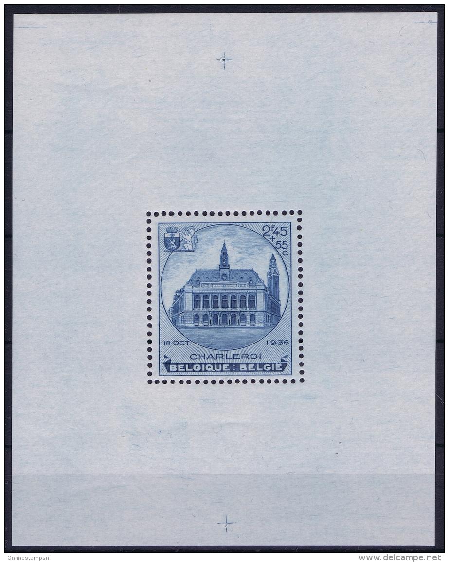 Belgium:  OBP Block Nr 6A MNH/**/postfrisch/neuf Sans Charniere  1936  Mi Block Nr 5 - Blocks & Kleinbögen 1924-1960