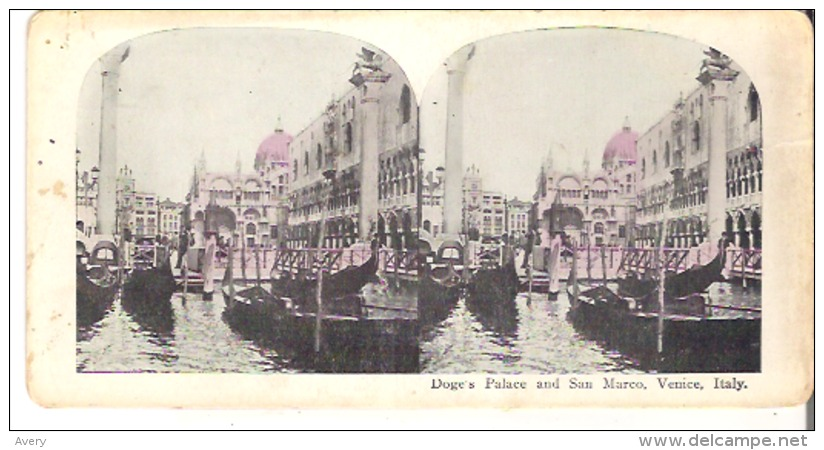Doge's Palace And San Marco, Venice, Italy - Stereoscope Cards