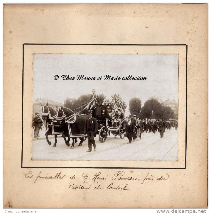 HENRI POINCARE - SES FUNERAILLES - CORTEGE - PHOTO 15 X 11 CM - Famous People