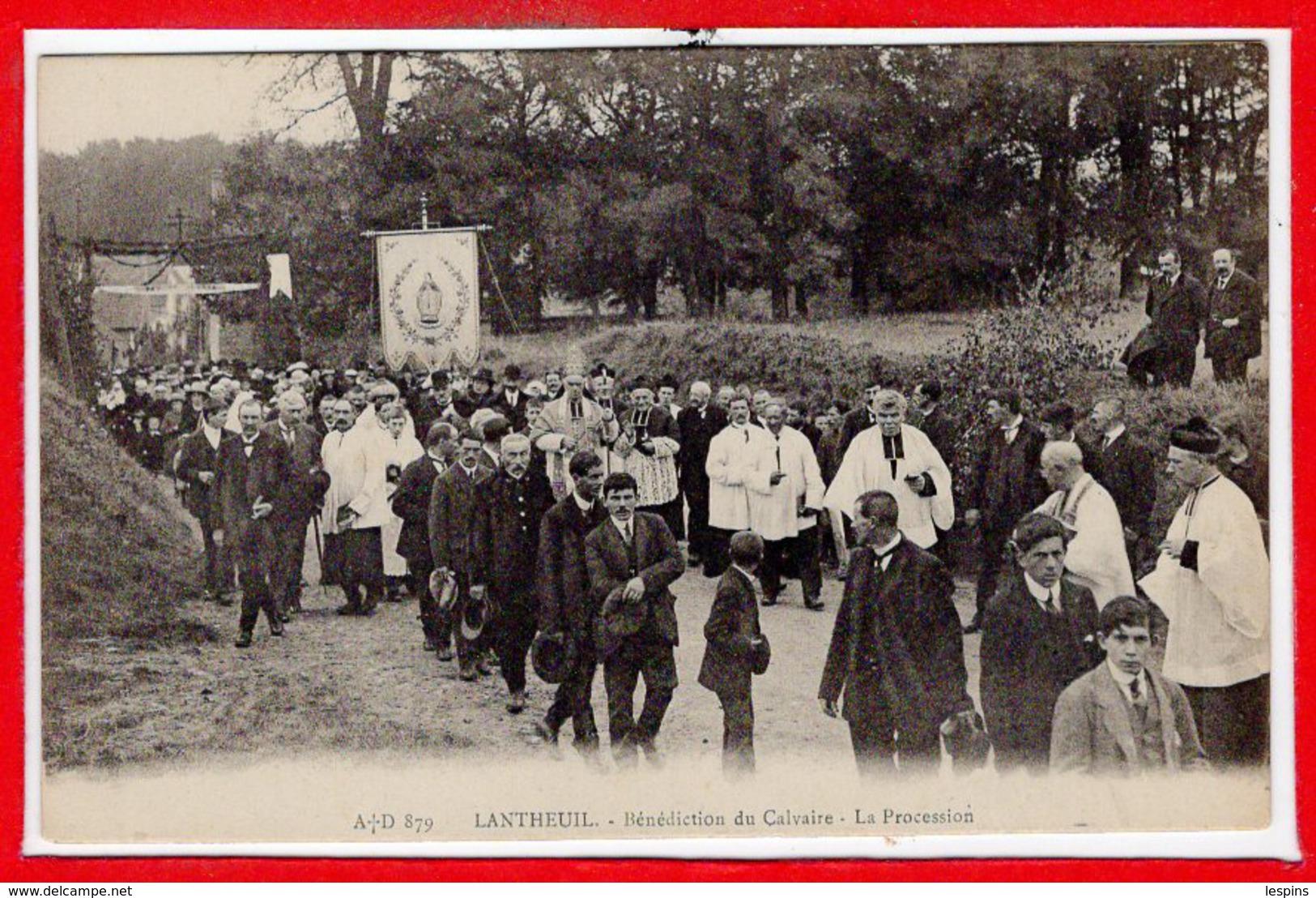 14 - LANTHEUIL --  Bénédiction Du Calvaire - La Procession - France