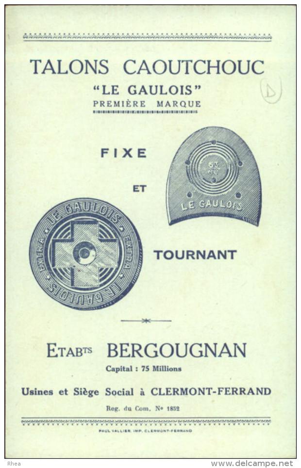CHROMO - FABLE DE FLORIAN - Pub Pour Talons Caoutchouc LE GAULOIS à Clermont-Ferrand - Perroquet - Chromos