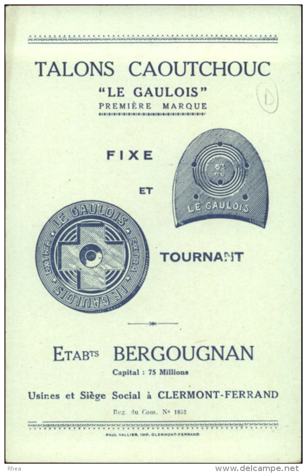 CHROMO - FABLE DE FLORIAN - Pub Pour Talons Caoutchouc LE GAULOIS à Clermont-Ferrand - Singe - Chromos
