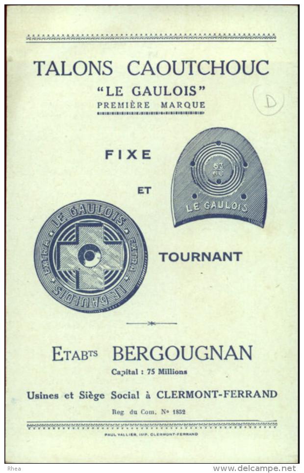 CHROMO - FABLE DE FLORIAN - Pub Pour Talons Caoutchouc LE GAULOIS à Clermont-Ferrand - - Chromos