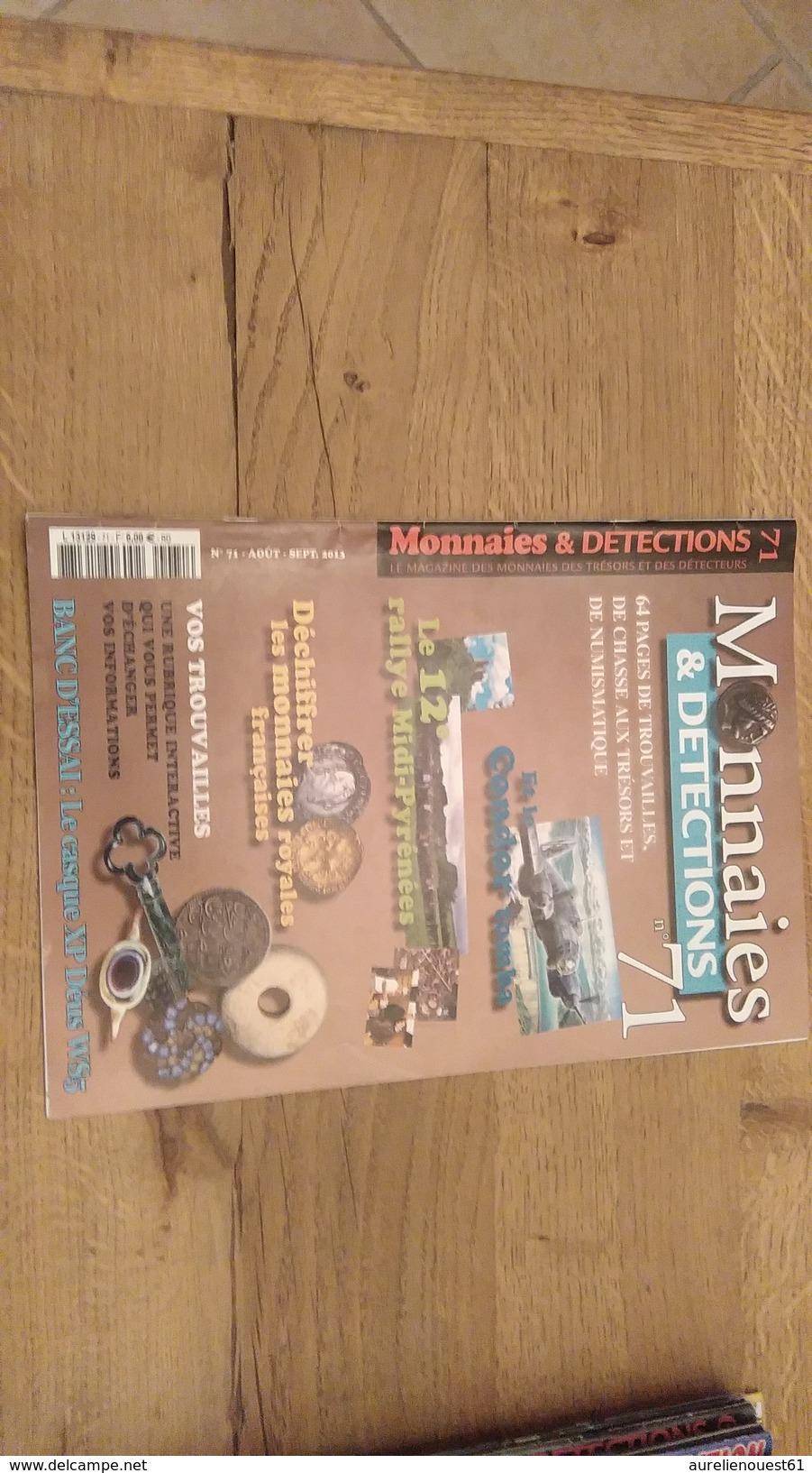60:  MONNAIES ET DETECTIONS N° 71 AOUT SEPTEMBRE 2013 - Français