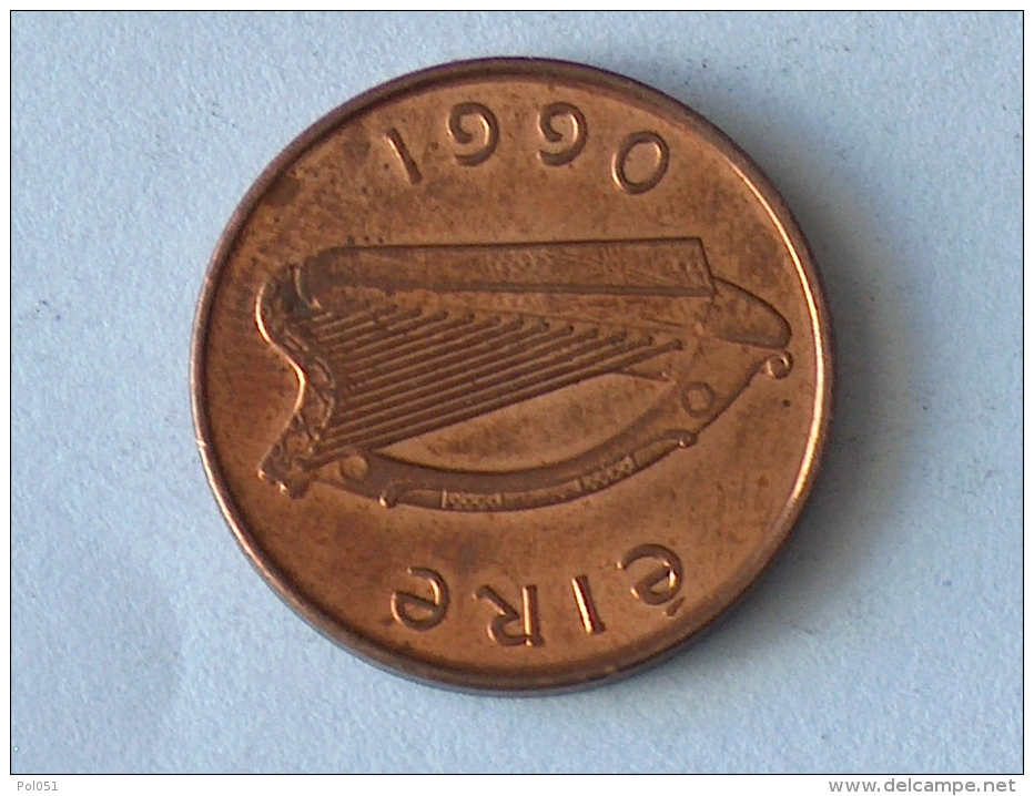 IRLANDE 1 PENNY 1990 - Irlande