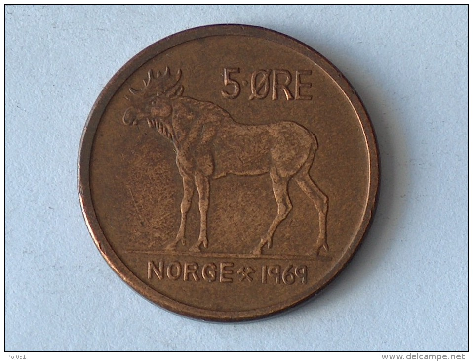 NORVEGE 5 ORE 1969 - Norvège