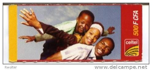"@+ Niger - Carte Prépayée Celtel -  500 FCFA - Verso ""carte 10"" - Niger"