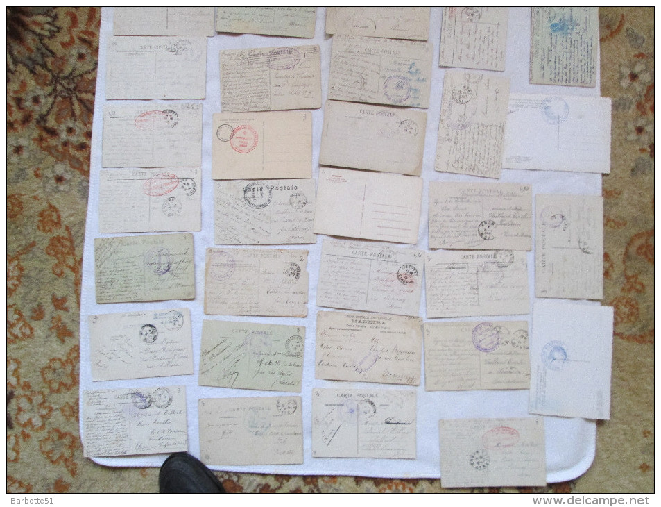 Tampons Militaire CPA Lot De 50 (plus 8 Car Quelques Unes Sont Un Peu Abimées) Cartes Avec Tampons Militaires Voir Scans - France
