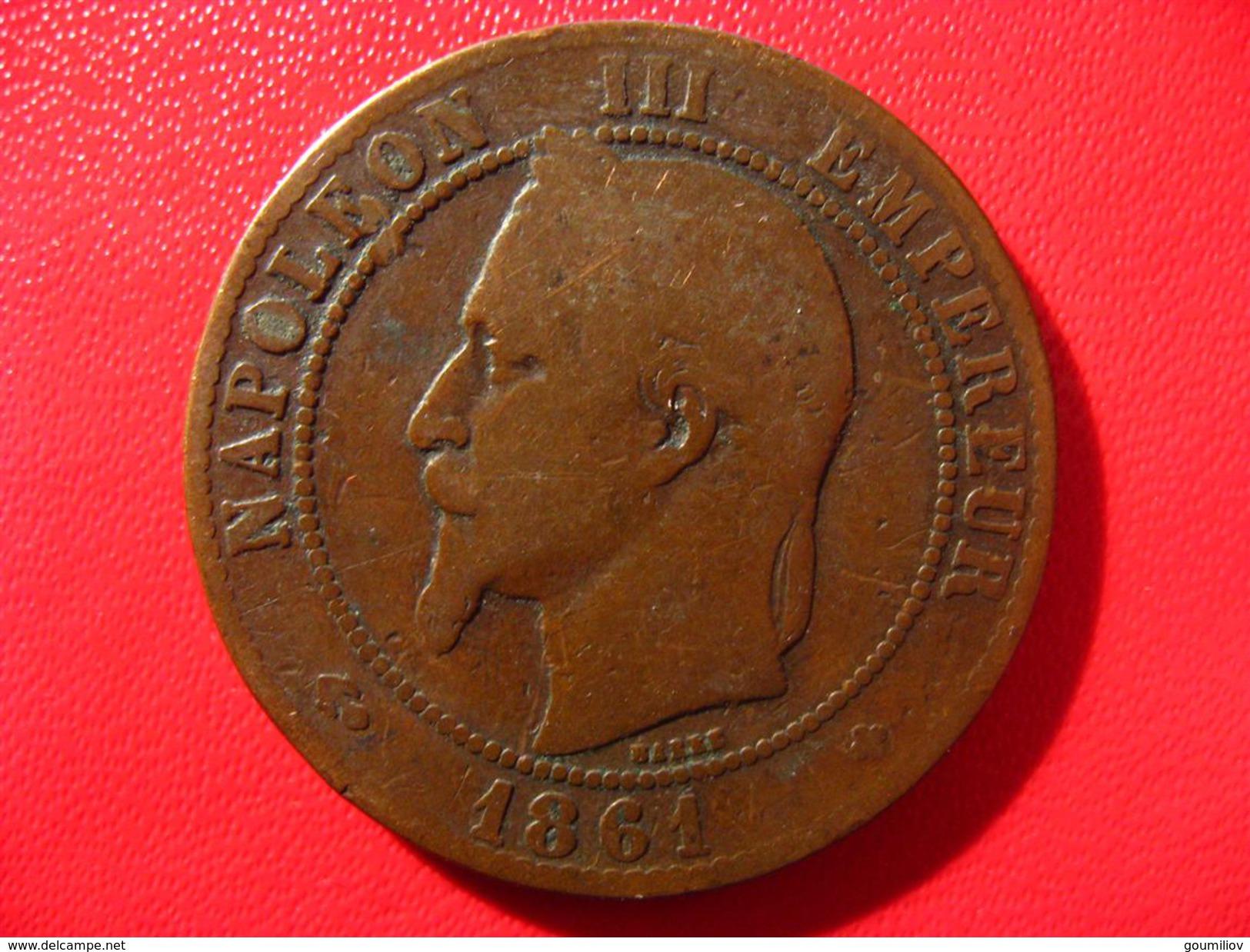 10 Centimes Napoléon III 1861 BB Strasbourg 4763 - France