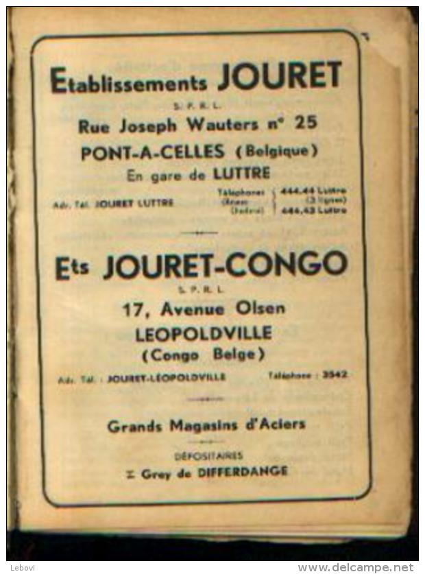 PONT-A-CELLES - Ets JOURET - Manuel Des Produits Présentés Par La Firme Avec 12 Photos Des Installations - Cultural