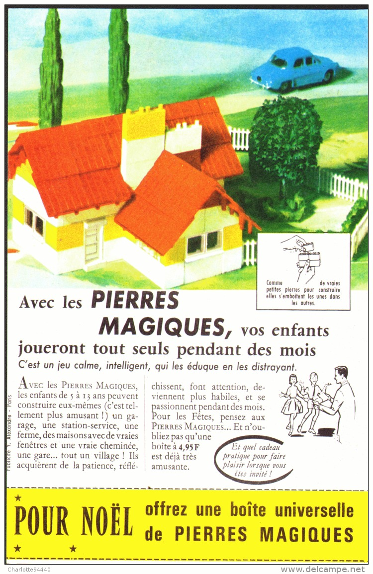 "PUB  "" PIERRES  MAGIQUES  "" 1962 (1) - Andere"