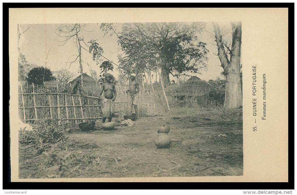 GUINÉ-BISSAU - Femmes Mandingues ( Nº 55)  Carte PostalE - Guinea-Bissau