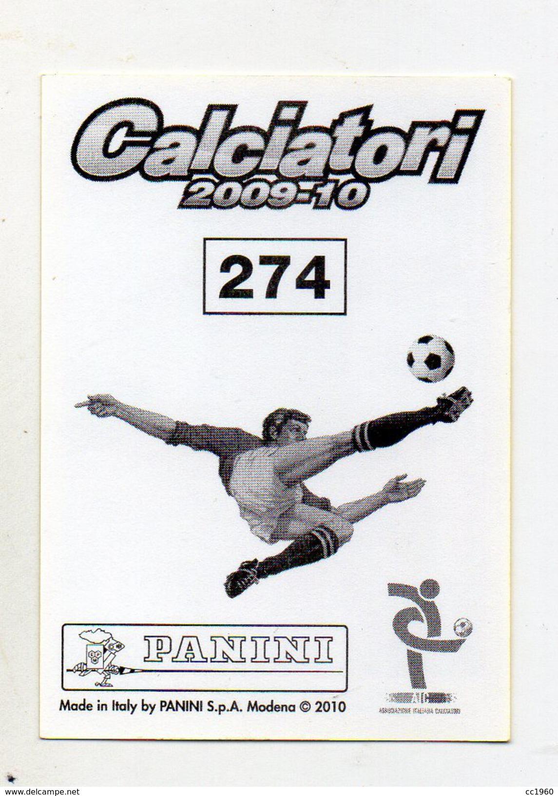 Calciatori 2009/2010 - Figurina Nr. 274- LIVORNO - NELSON RIVAS - Edizione Panini - (FDC1217) - Panini