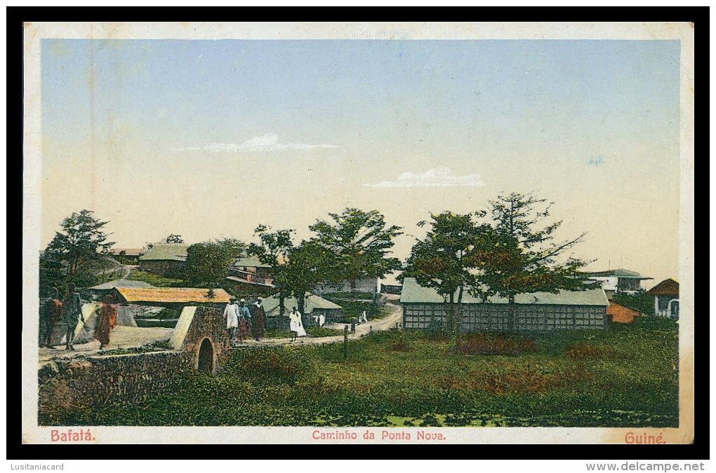 BAFATÁ -  Caminho Da Ponta Nova .   Carte Postale - Guinea-Bissau