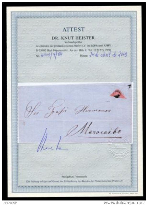 VENEZUELA 1865 BISECT 2 REALES ON COVER - Venezuela