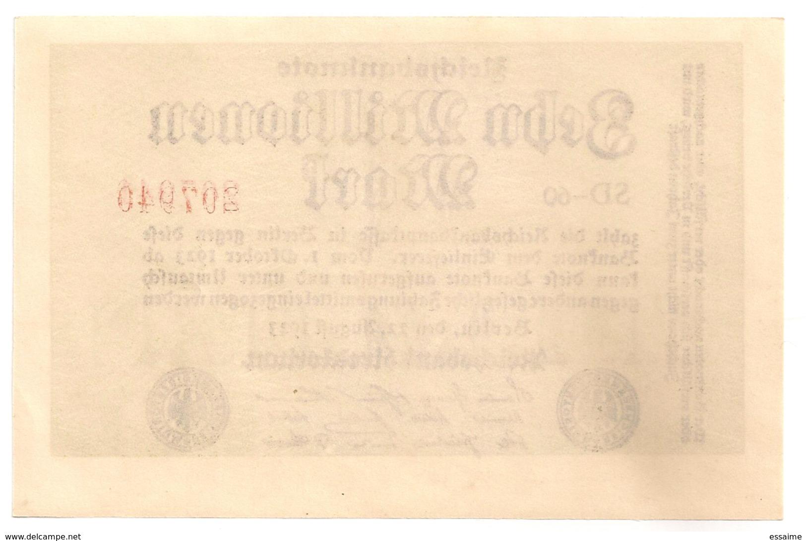 Allemagne. Reichsbanknote 10 Millions Mark. Octobre 1923 Neuf Mint - [ 3] 1918-1933 : Weimar Republic