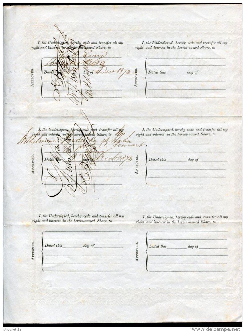 CAPE CHARLES DAVIDSON BELL DESIGNER CAPE TRIANGULAR STAMP! 1854 - Shareholdings