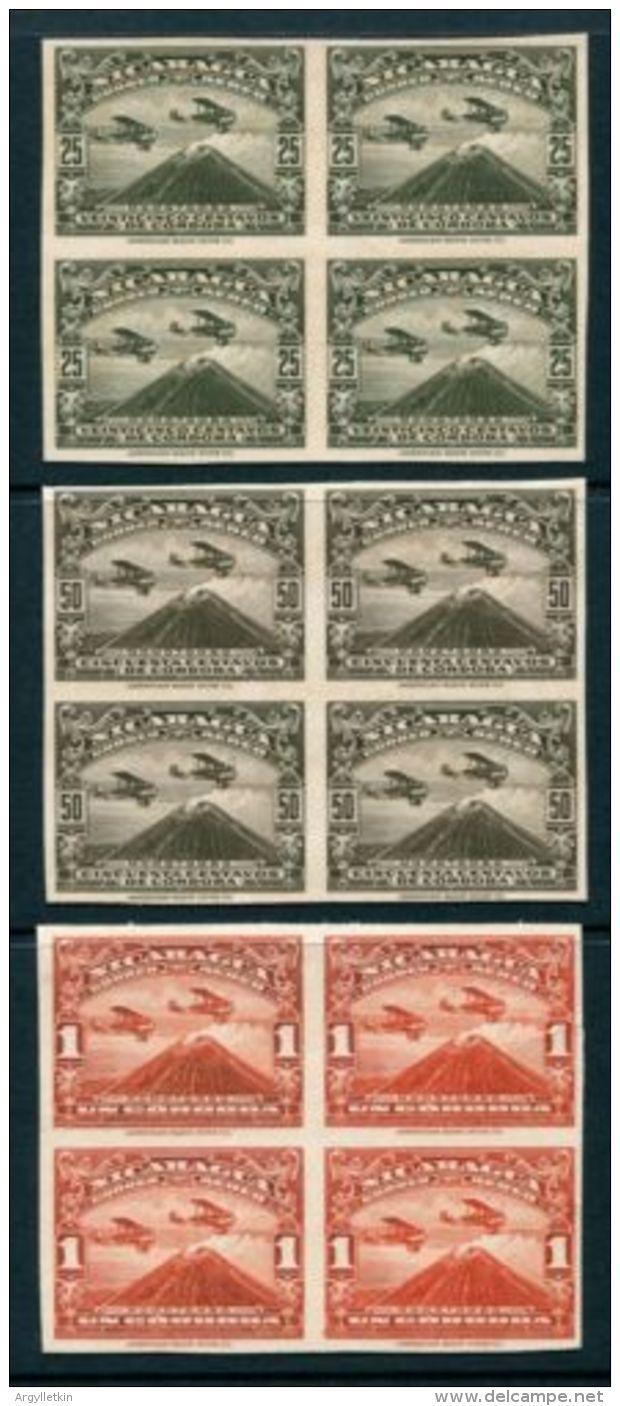 NICARAGUA AIR VOLCANO 1937 PROOFS - Nicaragua